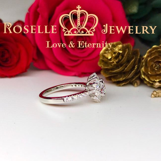 Snowflake Halo Engagement Ring - SR1 - Roselle Jewelry