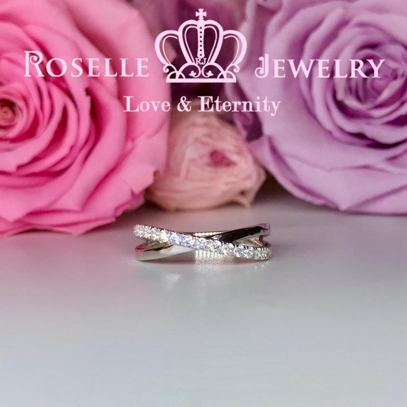 Twist Wedding Ring - BA48 - Roselle Jewelry