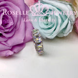 Emerald Cut Eternity Wedding Ring - BH2