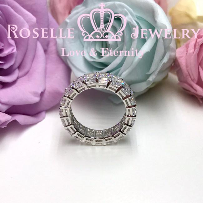 Emerald Cut Eternity Wedding Ring - BH2 - Roselle Jewelry