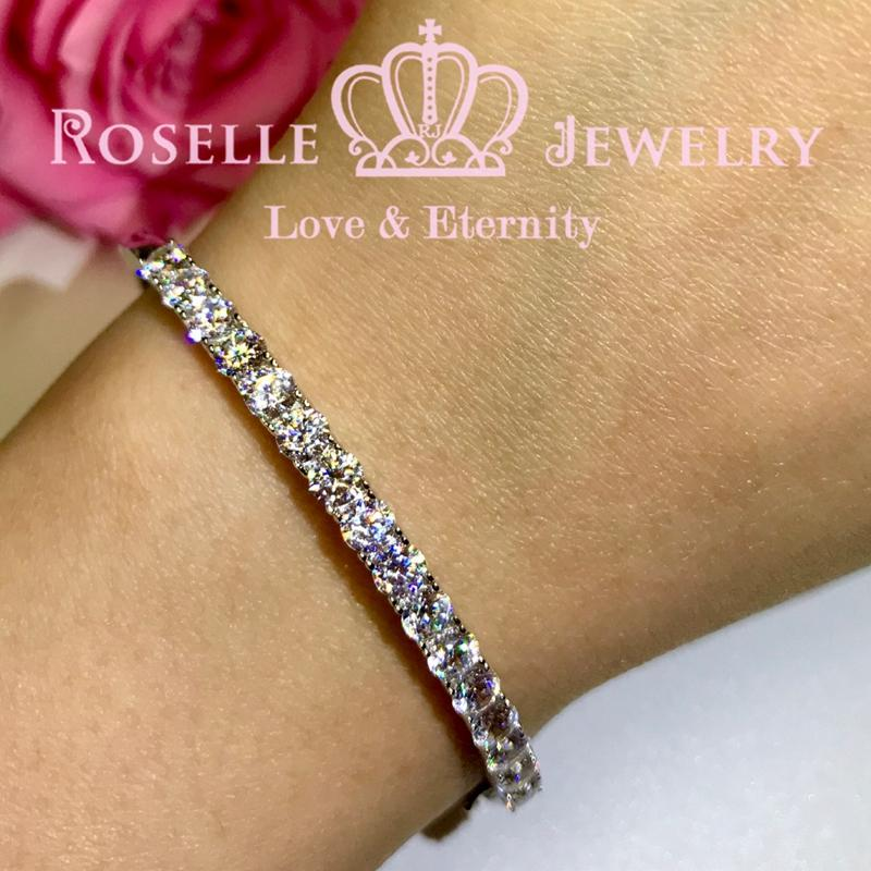 Fashion Half Eternity Bracelet - BG6 - Roselle Jewelry