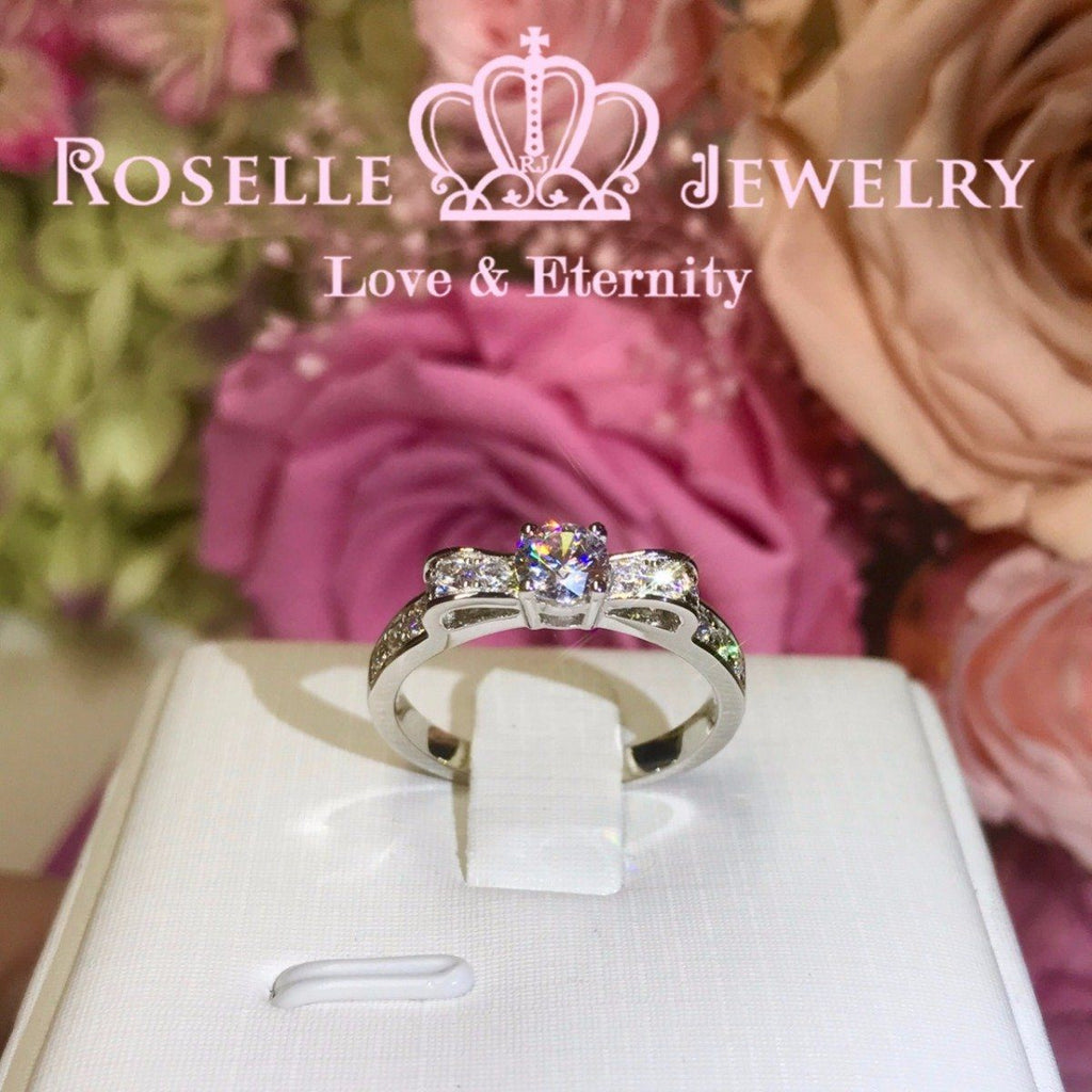 Fashion Bow Engagement Ring - TB1 - Roselle Jewelry