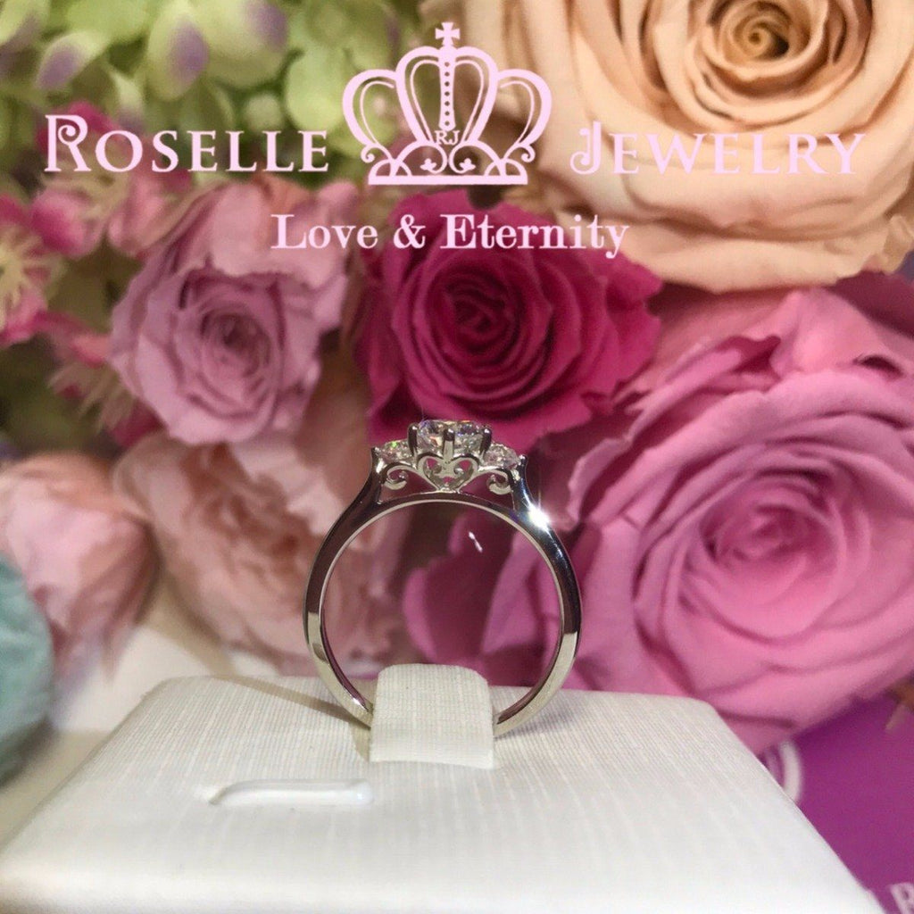 Vintage Three Stone Engagement Rings - V16 - Roselle Jewelry