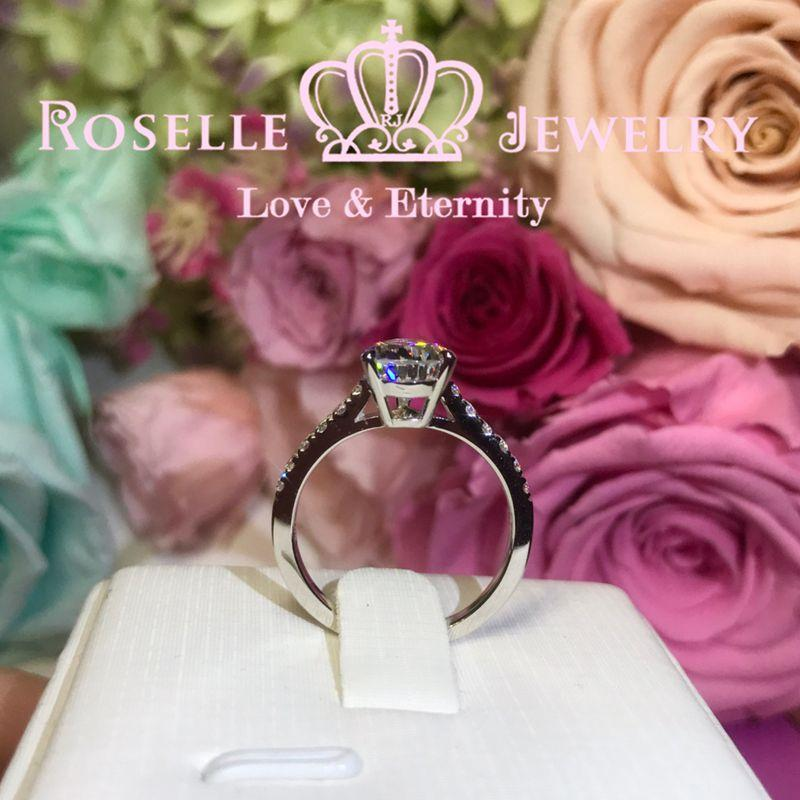 Pear Cut Side Stone Engagement Ring - TP1 - Roselle Jewelry