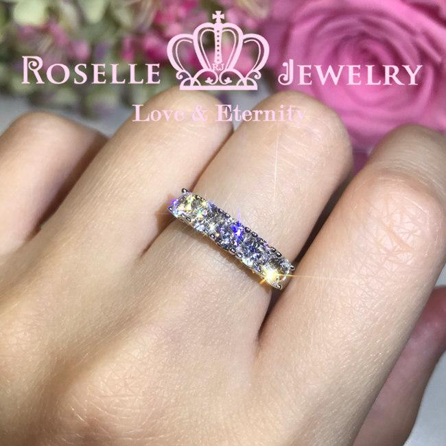 Five Stone Common Prong Wedding Ring - RH6 - Roselle Jewelry