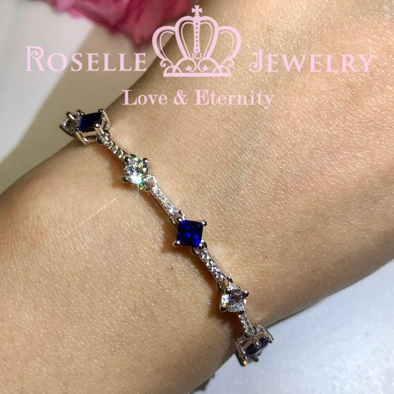 Lab Grown Sapphire Rope Bracelet - BZ4 - Roselle Jewelry