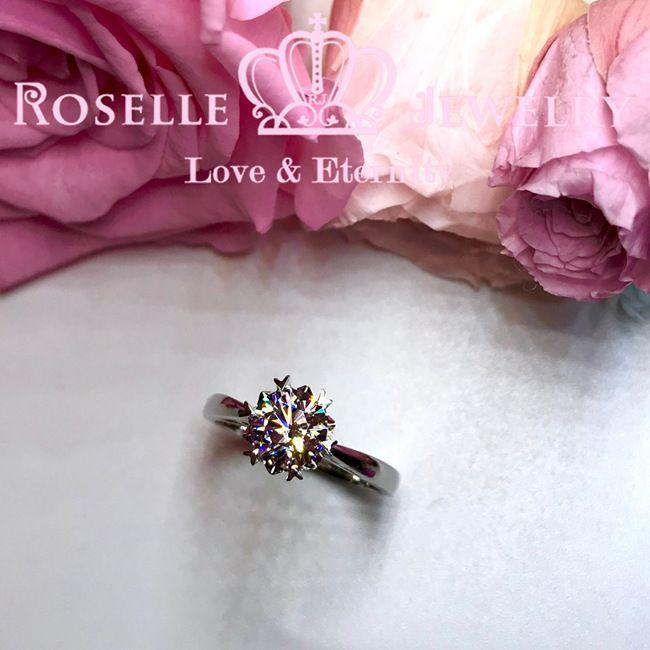 Heart Shape Prong Vintage Engagement Ring - SR2 - Roselle Jewelry