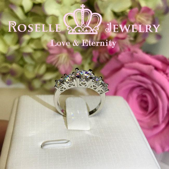 Five Stone Half Eternity Wedding Rings - RH5 - Roselle Jewelry