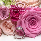 Vintage Three Stone Engagement Rings - V16