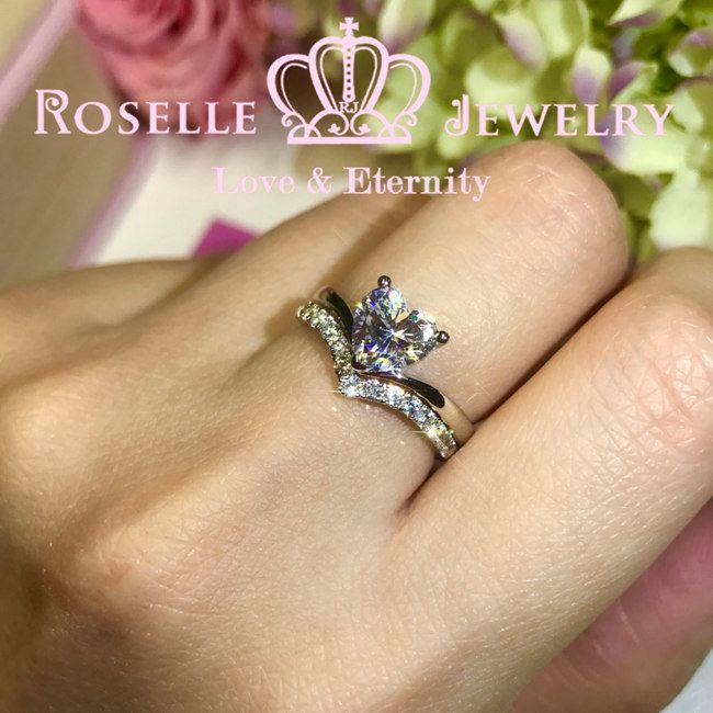 Heart Shape Solitaire Engagement Ring Setting - T7S - Roselle Jewelry