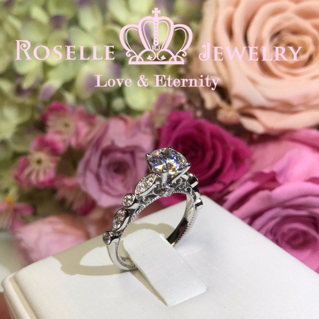 Vintage Engagement Ring - V17 - Roselle Jewelry