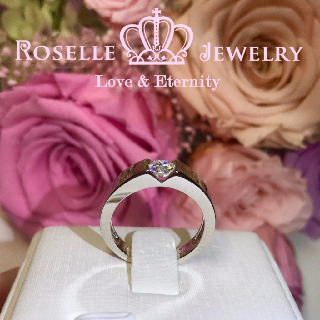 Simple Mens Engagement Ring - NM1 - Roselle Jewelry