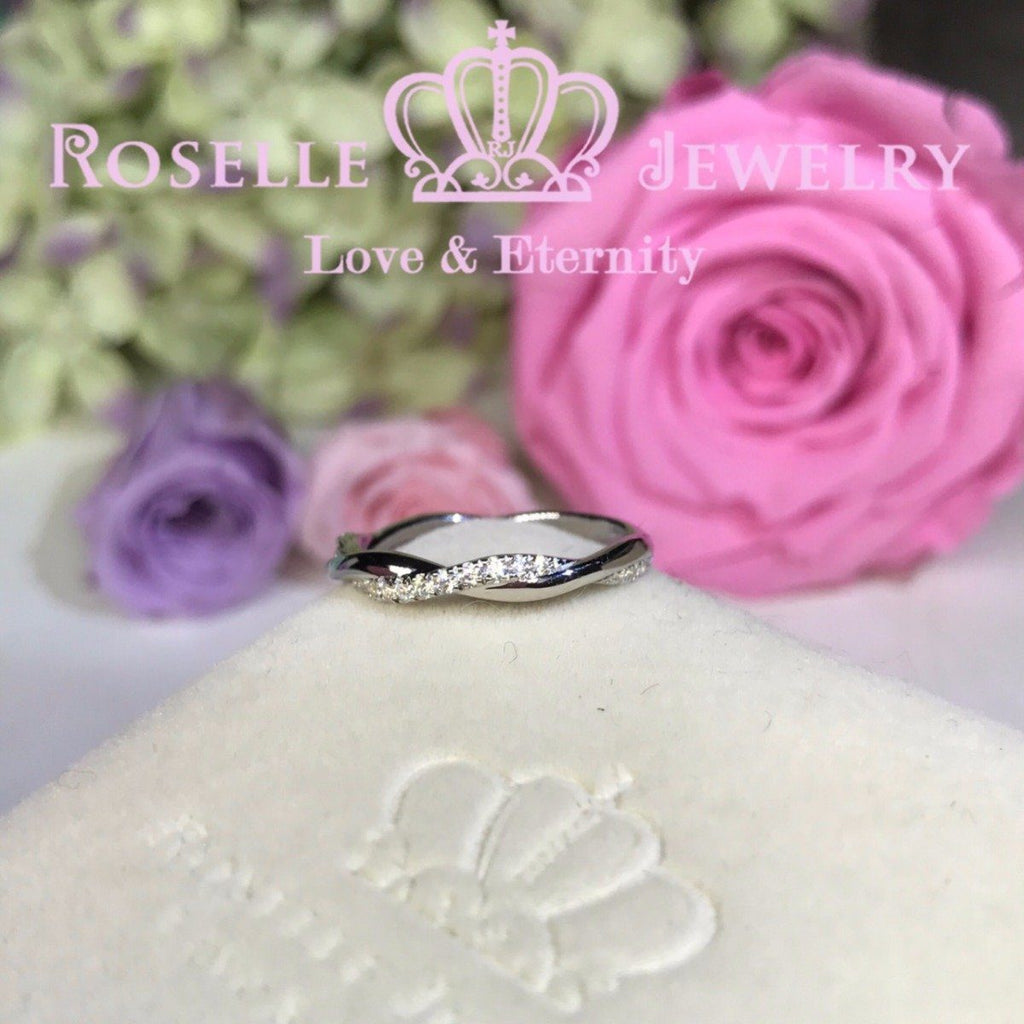 Twist Half Eternity Wedding Ring - NW2 - Roselle Jewelry