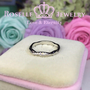 Twist Half Eternity Wedding Ring - NW2