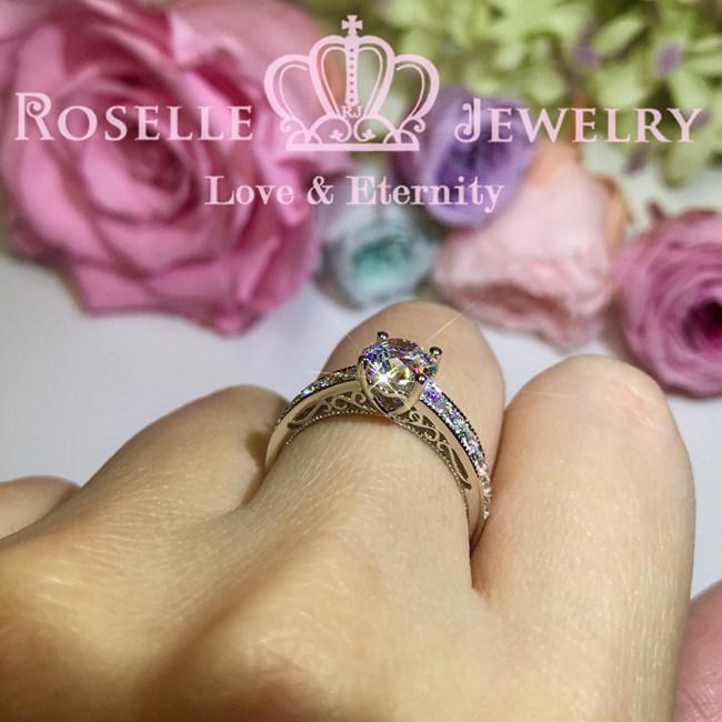 Vintage Engagement Ring - V25 - Roselle Jewelry