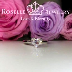 Happy Heart Solitaire Engagement Ring - NH2