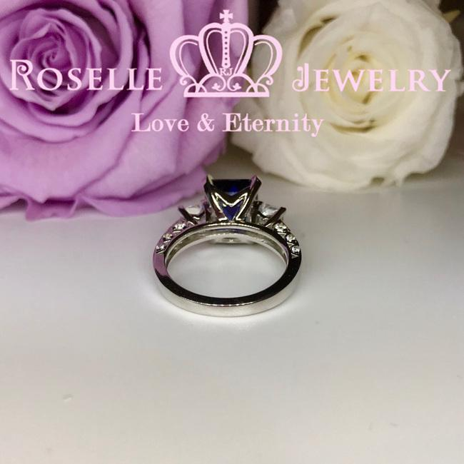 Emerald Cut Side Stone Engagement Rings - TS1 - Roselle Jewelry