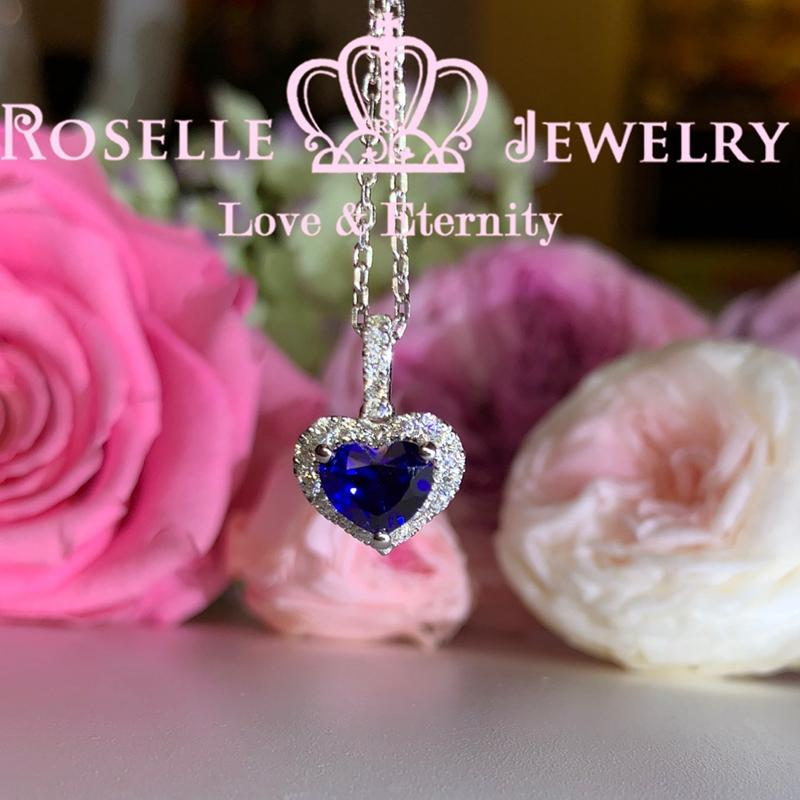 Halo Heart Shape Drop Pendants - HC4 - Roselle Jewelry