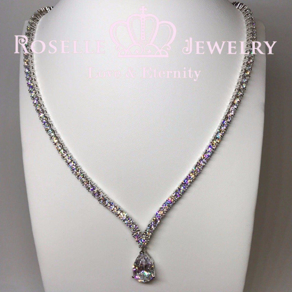 Luxury Bridal Banquet Detachable Necklace - GP1 - Roselle Jewelry