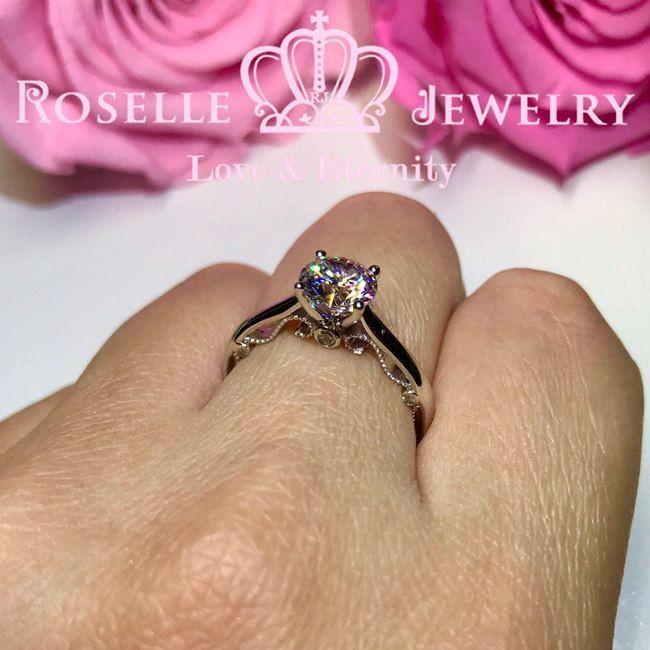 Vintage Four Prong Solitaire Engagement Ring - V26 - Roselle Jewelry