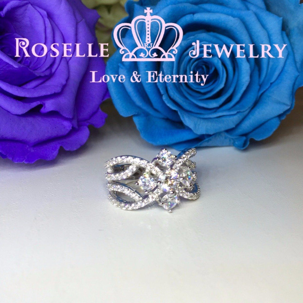 Floral Fashion Ring - BA13 - Roselle Jewelry