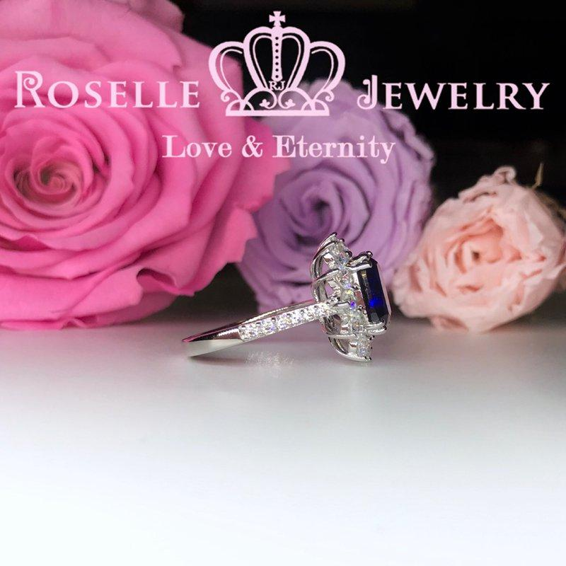 Cushion Cut Halo Engagement Rings - OS2 - Roselle Jewelry