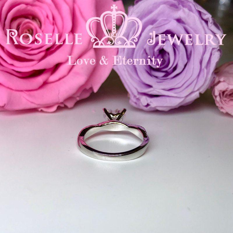 Happy Heart Shape Side Stone Engagement Ring - TH2 - Roselle Jewelry