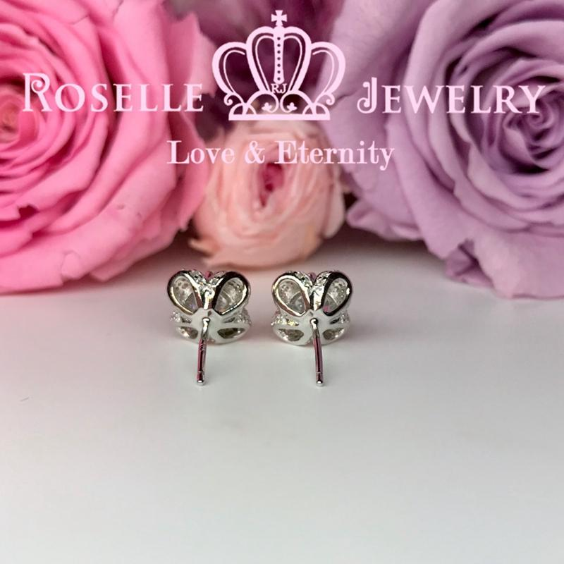 Floral Stud Earrings - ER9 - Roselle Jewelry