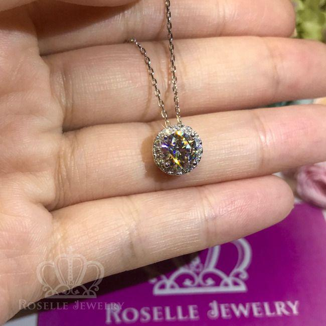 Halo Drop Pendants - RC2 - Roselle Jewelry