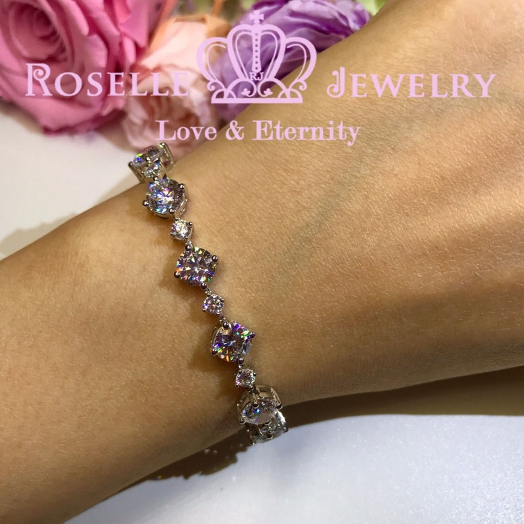 Brilliant Round Cut Bracelet - B100 - Roselle Jewelry