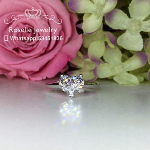 Happy Heart Shape Solitaire  Engagement Ring - NH1