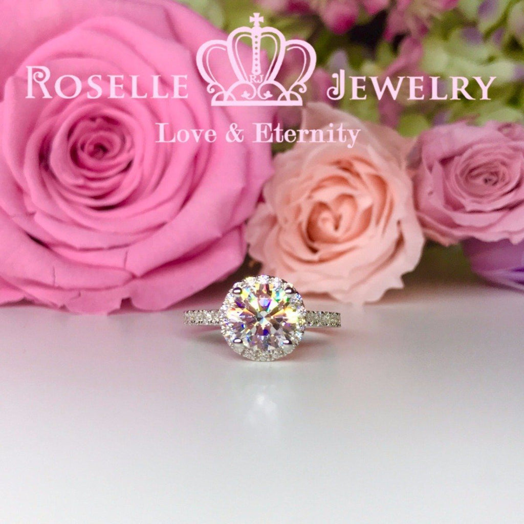 Halo Engagement Rings - V22 - Roselle Jewelry