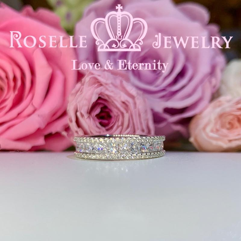 Princess Cut Eternity Wedding Ring - RT3 - Roselle Jewelry