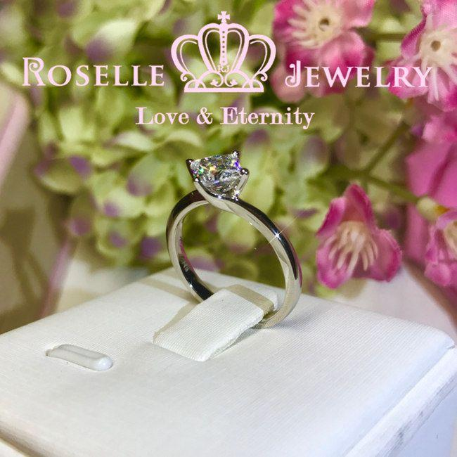 Princess Cut Solitaire Twist Engagement Ring - NS1 - Roselle Jewelry