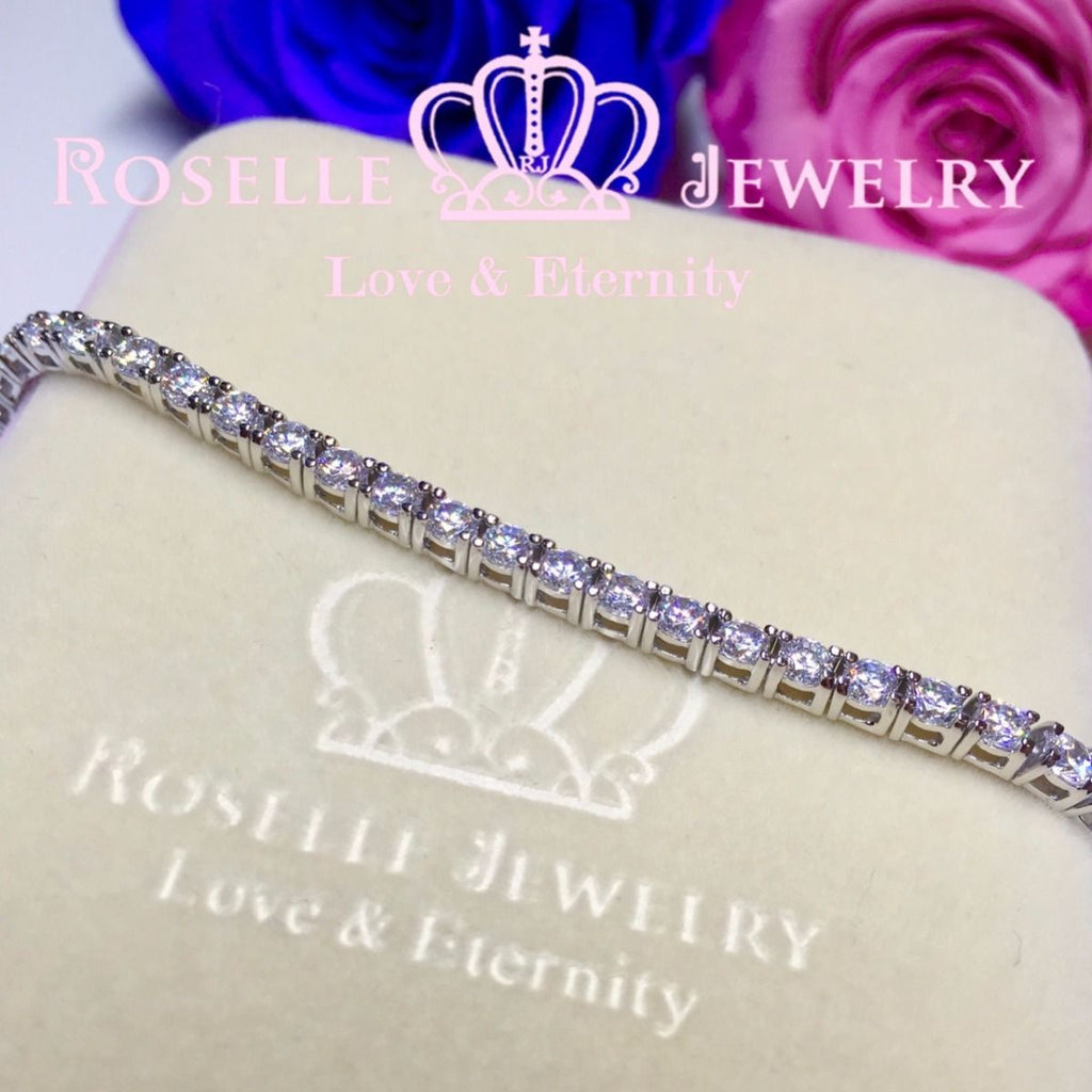 Round Brilliant Cut Tennis Bracelet - B10 - Roselle Jewelry