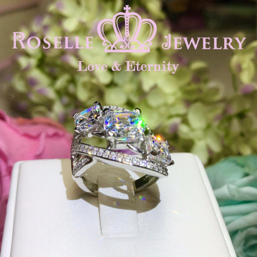 Asscher Cut Cocktail Rings - VA1 - Roselle Jewelry