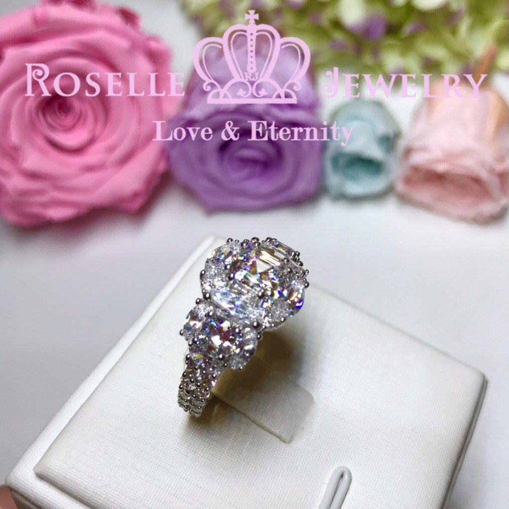 Asscher Fashion Engagement Ring - VA2 - Roselle Jewelry