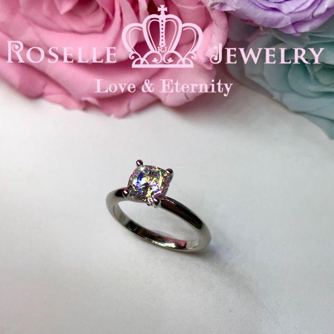 Cushion Cut Solitaire Engagement Ring - NC2 - Roselle Jewelry