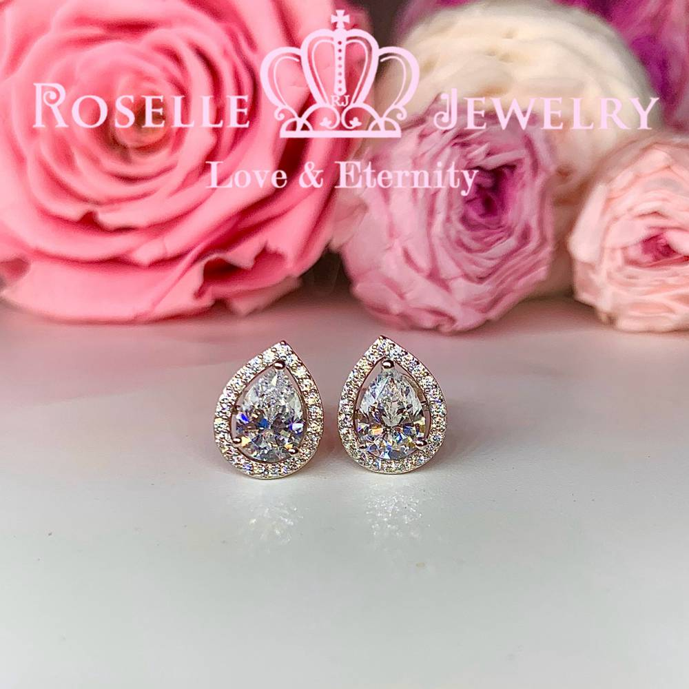 Detachable Pear Cut Earring - EP4 - Roselle Jewelry
