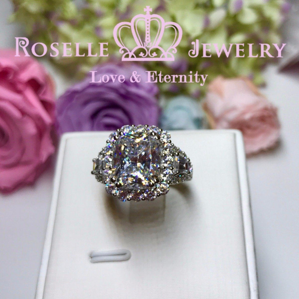 Cushion Cut Fashion Engagement Ring - VC1 - Roselle Jewelry