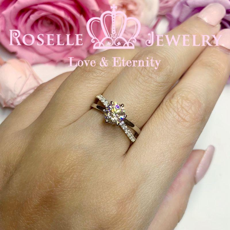 Four Prong Cross Engagement Ring - T48 - Roselle Jewelry