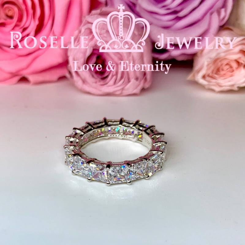 Princess Cut Eternity Wedding Ring - BH3 - Roselle Jewelry