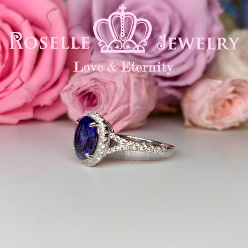 Oval Halo Engagement Ring - OS4 - Roselle Jewelry