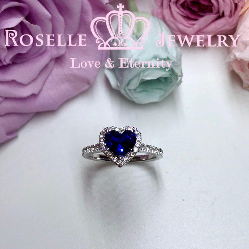 Heart Shape Lab Halo Engagement Ring - HS1 - Roselle Jewelry