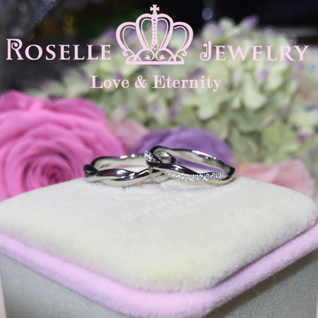 Twist Couple Ring - WM1 - Roselle Jewelry