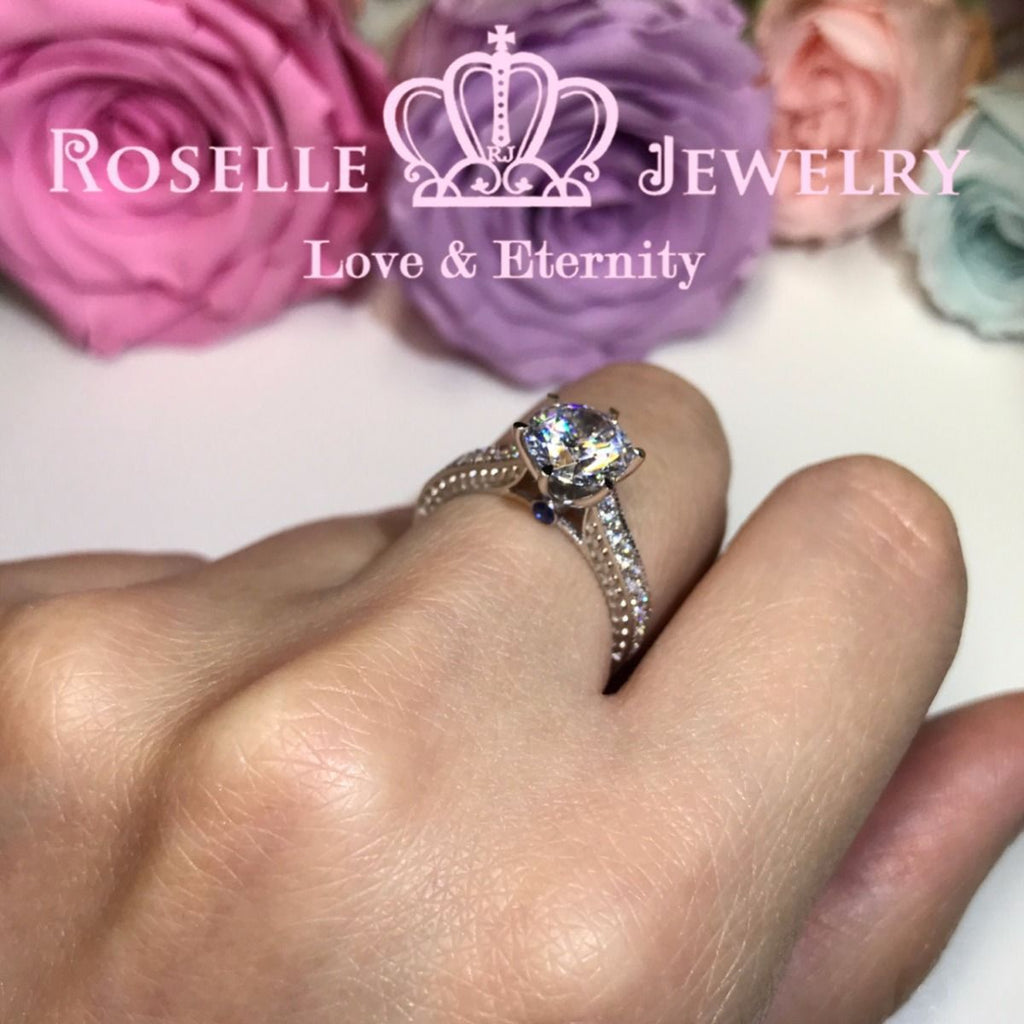 Six Prong Vintage Engagement Ring - T15 - Roselle Jewelry