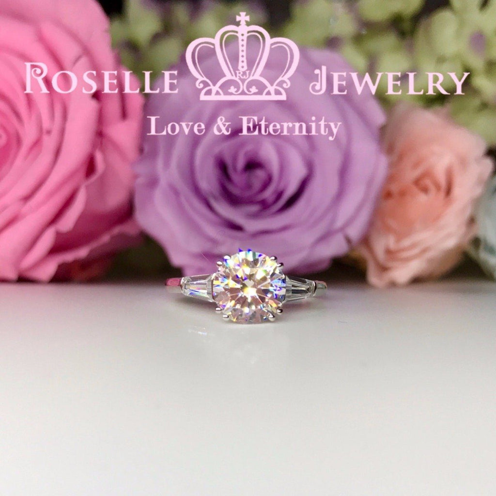 Three Stone Engagement Rings - T16 - Roselle Jewelry