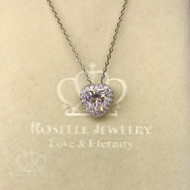 Halo Heart Shape Drop Pendants - HC2 - Roselle Jewelry