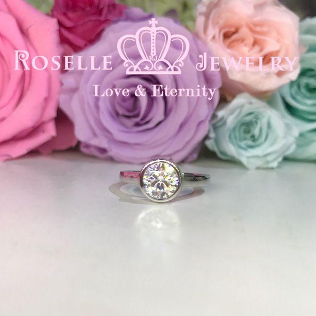 Bezel Setting Engagement Ring - NT13 - Roselle Jewelry