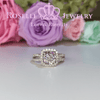 Cushion Cut Halo Engagement Ring - VC3